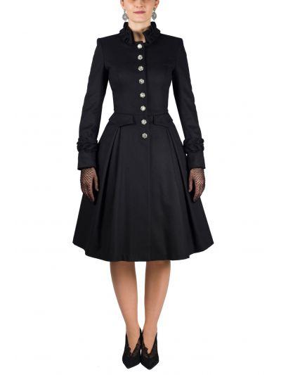 Mantel 21D180LL in schwarz von Mothwurf