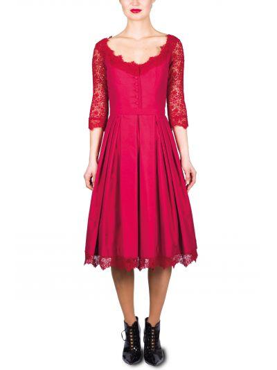 Kleid Mothwurf in Rot 20L060PS