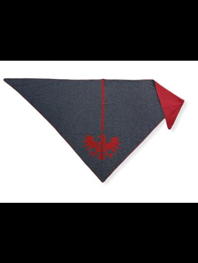 Stola Adler in grau/rot